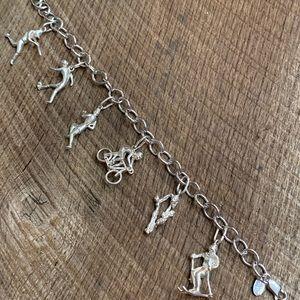Jewelry - 925 Sterling Silver Sports Charm Bracelet